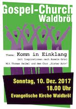 Gospel Church am 10. Dezember