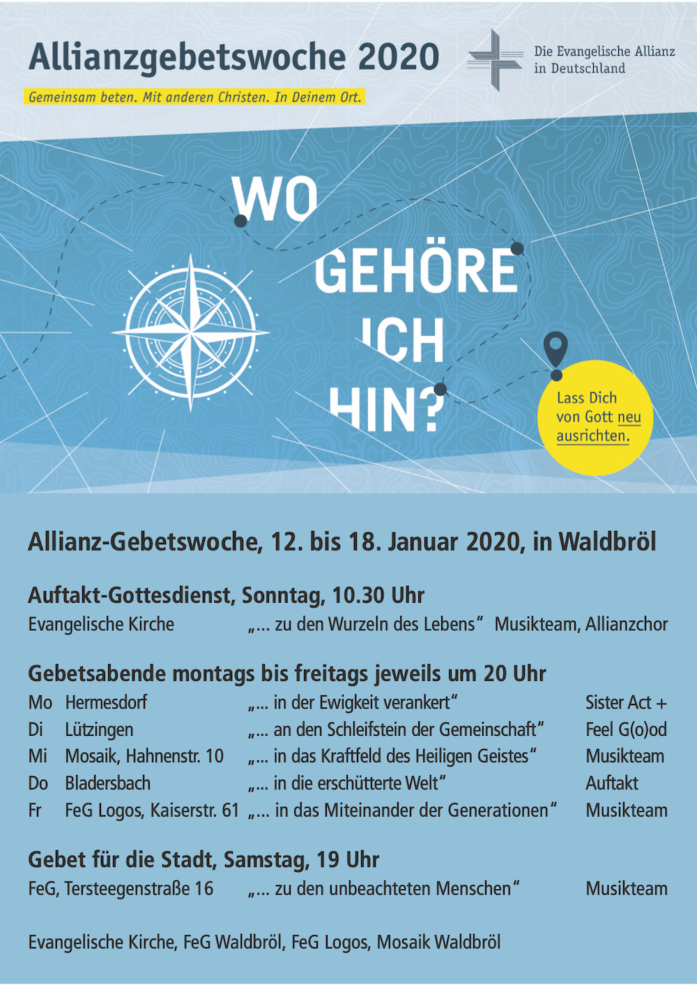Allianz Gebetswoche 2020