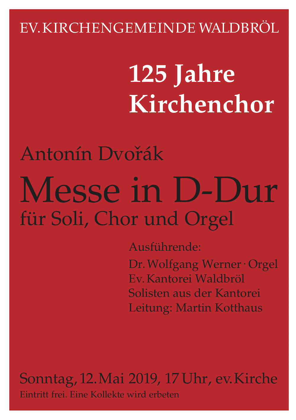 Messe in D-Dur am 12. Mai 2019