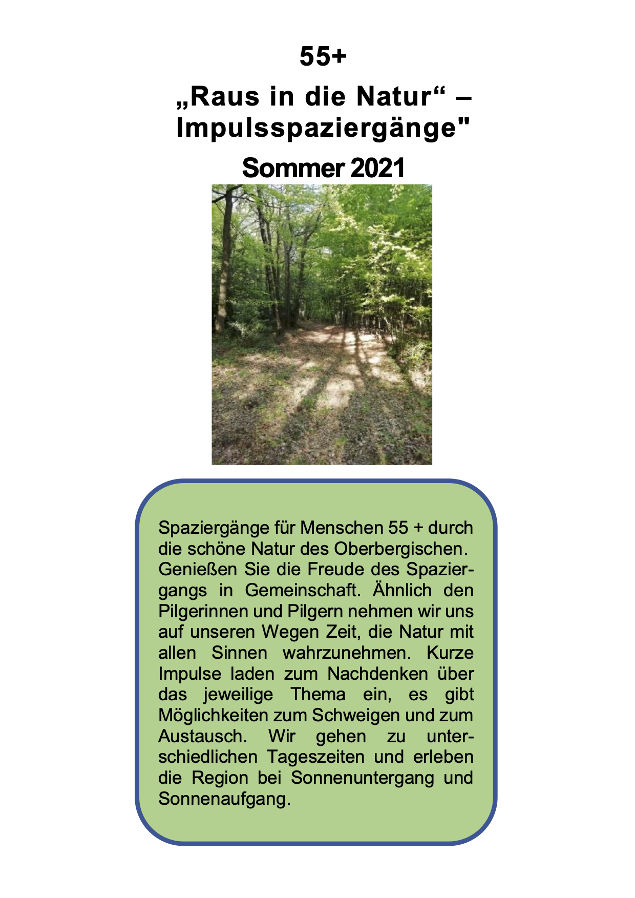 Spaziergang 55+